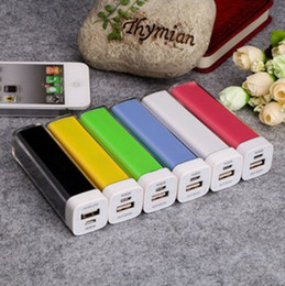 Wholesale Power Bank Charger Lipstick Portable - 2600mAh Power Bank Charger Lipstick Portable Emergency External Battery Charger for Galaxy i9500 i9300 Note2 N7100 phe 5 5S 5C 4 4G