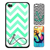 Wholesale Anchor Iphone 5c Cases - S5Q New fashion Sailor Anchor vintage Hard back case cover For Apple iphone 5C AAACQZ