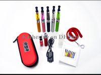 Wholesale Ego Battery Colorful Lanyards - Ego CE4 Kits E Cigarette 650mah 900mah 1100mah Battery Atomizers Colorful Batteries Colorful Cases withl Lanyards In stock DHL shipping