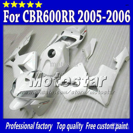 Race Honda Canada - 100% Injection mold fairing White FOR HONDA CBR600RR 2005 2006 CBR 600RR CBR600 F5 05 06 road racing fairings kit