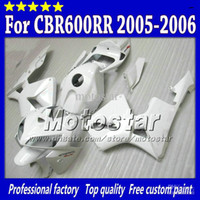 100% Injection mold fairing White FOR HONDA CBR600RR 2005 20...