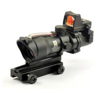 acog 4x32 rmr al por mayor-Trijicon TA31 ACOG Estilo 4X32 Fuente de fibra real Rojo Iluminado Alcance con RMR Micro Red Dot