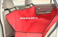 красные чехлы для сидений оптовых-Оптовая продажа-Бесплатная доставка Pet обложка, водонепроницаемый собака автокресло обложка, Пэт автомобиль мат красный цвет CH0138 0139 0153