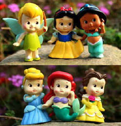 Wholesale Tinkerbell Toy Figures - High Quality PVC Princess Tinkerbell doll toy 6 pcs Collection Figure Retail