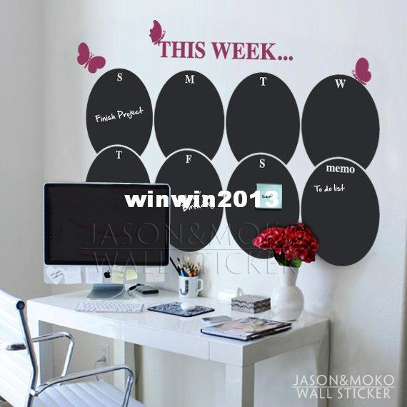 wholesale new products chalkboard weekly planner butterfly