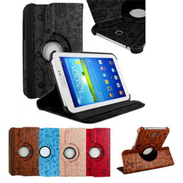 Wholesale Galaxy Tablet Waterproof Case - S5Q Rotating PU Leather Stand Case Cover For Samsung Galaxy Tab 3 7.0 Tablet P3200 AAACFI