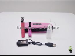Wholesale Ce4 Case Dhl - eGo CE4 kits E cigarettes CE4 atomizer 650mah 900mah 1100mah battery high quality with zippper case various colors instock DHL free