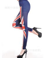Wholesale Womens Tights Wholesalers - Fashion Hot Legging USA Flag British Flag Two Item Mix Order Womens Leggings Skinny Tight Slim