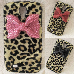 Wholesale Leopard Galaxy S4 - S5Q Bling Bling Crystal Rhinestone Leopard Case Cover For Samsung Galaxy S4 i9500 AAACLJ