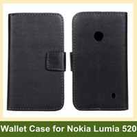 Wholesale Sample Wallet - Wholesale Multicolor PU Leather Wallet Case for Nokia Lumia 520 Folding Flip Cover Case for Nokia Lumia 520 Free Shipping