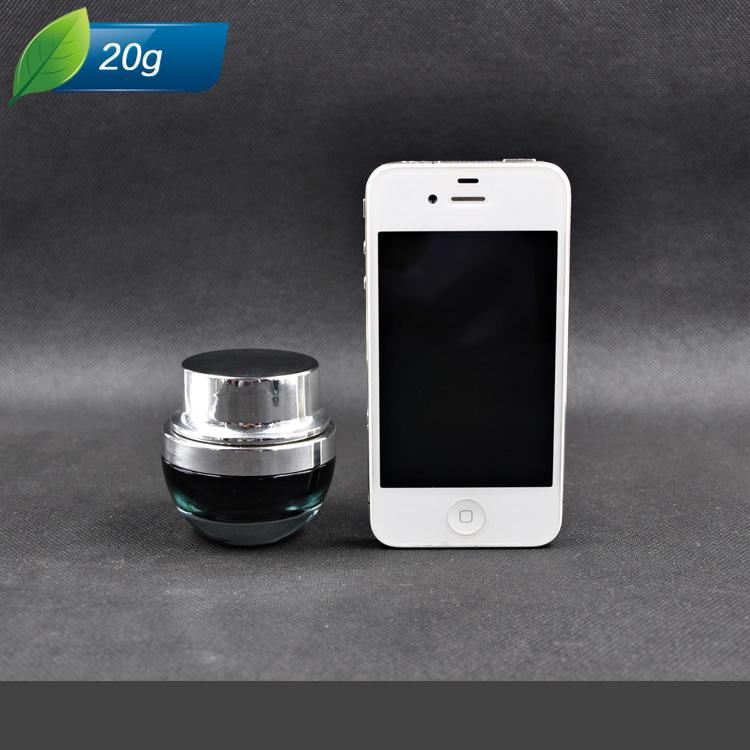 20g MINI Frascos de vidrio negro Crema facial recargable / Frascos de mascarilla Botella de fragancia Envase cosmético Botella de loción de viaje portátil / ZH1216