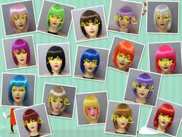 Peluca de lujo del pelo del partido online-NUEVA Moda BOB WIG STYLE Party Cosplay Fancy Dress Fake pelucas pelucas cortas sintéticas del pelo recto 17 colores.