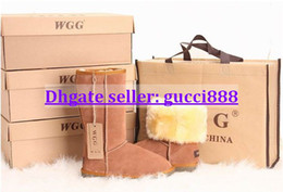 Wholesale Warm Tall Winter Boots - 2014 Classic tall WGG5815 style Women's popular Australia snow boots Winter Fashion style Warm stable With box certificate dust bag 2pairs