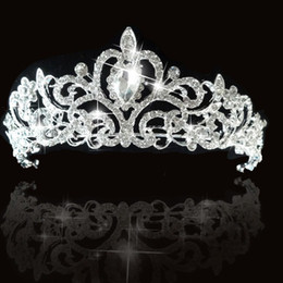 Wholesale Swarovski Crystals Tiara - hot sell Princess Palace Wedding Accessories Bridal Party Wedding Swarovski Crystal Tiara cown