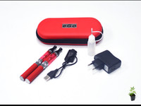 Wholesale Ego Ce6 Double Kit - ego CE6+ kit 2 Double Electronic Cigarettes kits CE6 Plus Atomizer 650mah 900mah 1100mah 2 e Cigarettes in Zipper Case Various Colors DHL