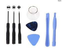 Wholesale Star 4g - 200set (1600pcs) 8 in 1 REPAIR PRY KIT OPENING TOOLS With 5 Point Star Pentalobe Torx Screwdriver For APPLE IPHONE iphone 4 4G