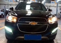 Wholesale Captiva Led Drl - Super Bright 10 LEDs pc daytime running light DRL with fog lamp cover for Chevrolet 2011~2013 Captiva SUV, 1:1 replacement