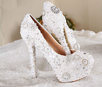 White Color Wedding Dress Bridal Shoes Gorgeous Super High H...