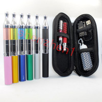 ingrosso singolo kit x9-EGO-X9 Mini eGo Single Kit e cig 650-1100mah Sigaretta elettronica con 1.6ml Mini X9 Protank Clearomizer Zipper Pouch Migliore qualità