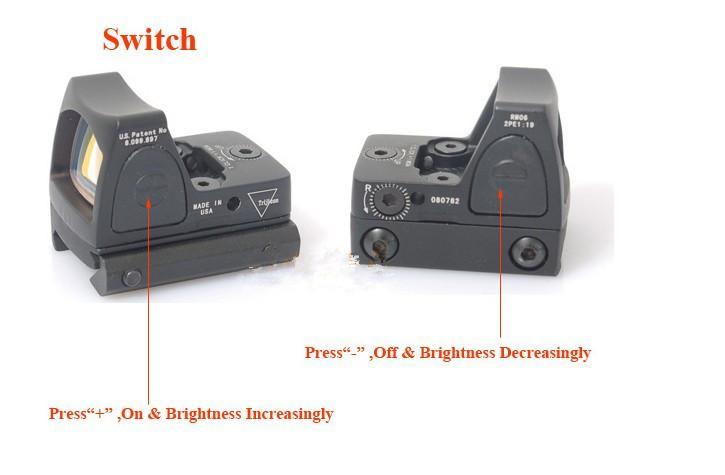 トリジコンRMRレッドドットのためのスイッチと狩猟のためのスイッチが付いている赤いドットの光景