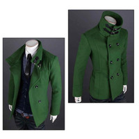 Wholesale Double Breasted Strap Trench Coat - S5Q Men's Slim Fit Double Breasted Strap Trench Casual Coat Long trench coat AAACPR