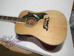 Wholesale Semi Acoustic Electric Guitars - New Arrival Natural Acoustic Electric Guitar High Quality Cheap Free shipping