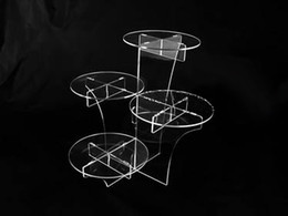 Free shipping lucent 4 layers beautiful acrylic cupcake display stand for wedding