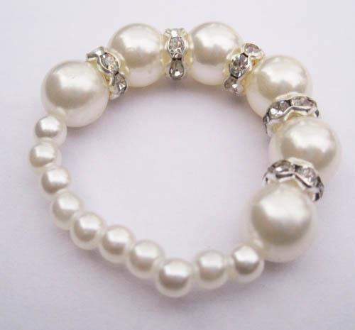 White Pearls Amp Metal Napkin Rings Wedding Party Wholesale