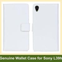 sony xperia z1 couvre achat en gros de-En gros Nouveau cuir véritable Wallet Case pour Sony Xperia Z1 L39h Pliant Flip Cover Case pour Sony Xperia Z1 L39h Livraison gratuite