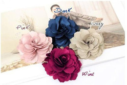 $enCountryForm.capitalKeyWord Canada - 50x Fashion New Ladies Satin Peony Flower Hair Clip Hairpin Brooch 17 Color Free Shipping
