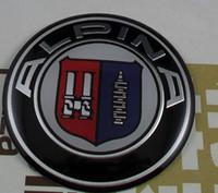 Wholesale Alpina Wheels - 4 pcs for Alpina 65mm metal Wheel Center Hub Caps emblem sticker