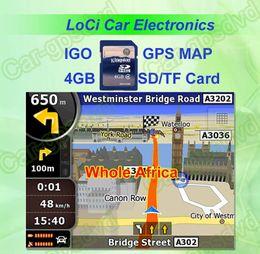 глобальный оптовый трекер Скидка Бесплатная доставка! Новейшая карта памяти SD / TF 8 ГБ с автомобильной картой IGO Primo GPS навигатор для всей Африки