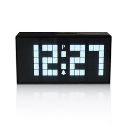 table resin UK - Big LED Display Big Digital Snooze Alarm Clock Desk Wall Electrica Clock With Temperature Calendar Luminous Table Clock