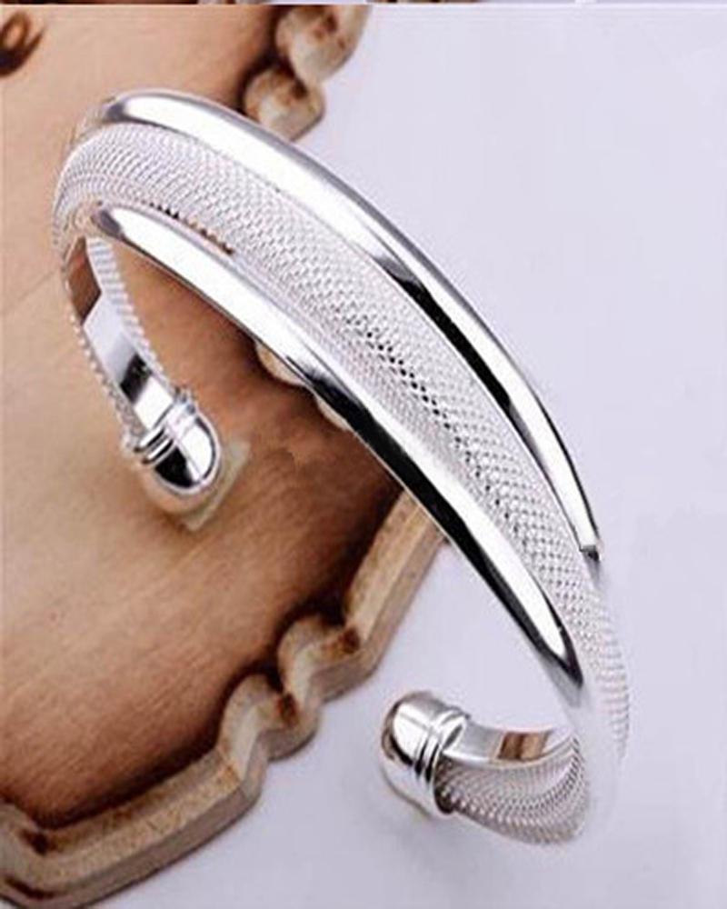 トップセール925シルバーファッションバングルブレスレットミックス4スタイル輝くバングルブレスレット女性の熱い販売ジュエリー/ロットクリスマスベストギフト
