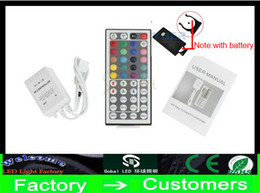 cheap battery lights 2019 - Cheap new 12V 3*2 A 44 Keys LED Controller IR Remote controller for 3528 5050 RGB LED Strip Light cheap cheap battery li
