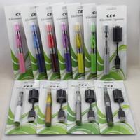 ego ce4 kits elektronische zigaretten großhandel-Beste eGo Blister elektronische Zigarette Kit Starter-Kits mit CE4 wiederaufbaubaren Zerstäuber und 650 mAh 900 mAh 1100 mAh Ego t Batterie Verschiedene Farben