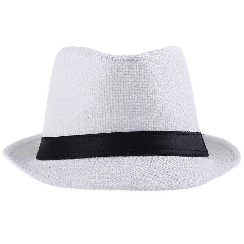 Hot Sell Unisex Straw Panama Fedora Hattar Vit Stingy Brim Casual Travel Caps Zds1