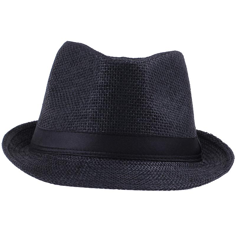 ユニセックスストローパナマフェデラ帽子ソフトスティンディブリムカジュアルトラベルサンキャップ10ピース/ロットZDS2