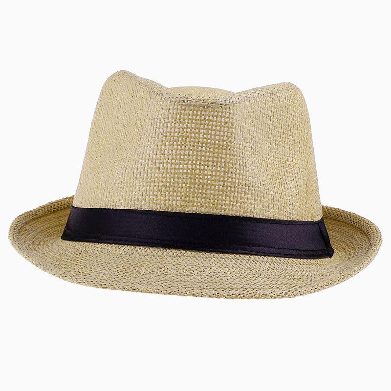 新着ユニセックスパナマFedora Hats Soft Stingy Brim Beach Sun Caps /ロットZDS4