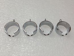 Wholesale Ego Necklace Holder - Ego Battery metal Ring For Ego Lanyard Vaporizer Necklace Holder eGo Necklace String Ring for eGo Series Electronic Cigarette ring FREE ship