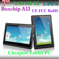 Wholesale Cheapest Allwinner A13 Android Tablets - Q88 dual camera 7 Inch tablet pc Supper Slim allwinner A13 512MB+4GB cheapest tablet pc