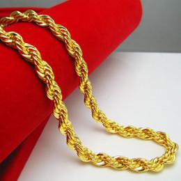 Loja de ouro 18k on-line-Colar de ouro de loja de ouro masculino com modelos femininos seção Ouro de banhado de ouro 24k simulação de cadeia de torção de ouro de milhares de ouro dourado
