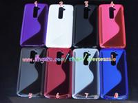 Wholesale Lg G2 S Cover - S line Wave shape Clear crystal Transparent antiskid skin Soft TPU Gel silicone cover case cases For LG G2 D802 G3 MINI 10pcs 20pcs