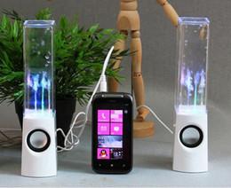 Wholesale Dancing Water Speaker Active Portable - Dancing Water Speaker Active Portable Mini USB LED Light Speaker For iphone ipad PC MP3 MP4 PSP