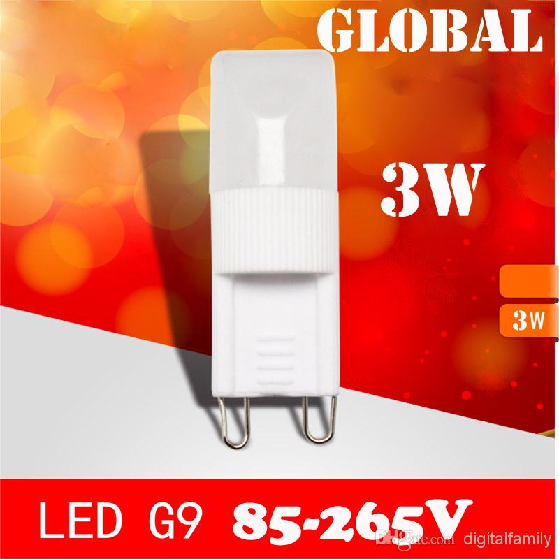 G9 crystal chandelier LED lamp Dimmable 3W light beads pardew ceramic G9 light beads LED Bulb 85-265v 110v 220v light 2014 New Arrival