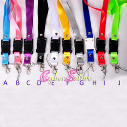 Wholesale Metal Chain Lanyards - Useful 38cm( Length) X 2CM (width) Wide Neck Strap Lanyard key chains Rope Metal Hook for PSP Camera Cell Phone ID Card Strap