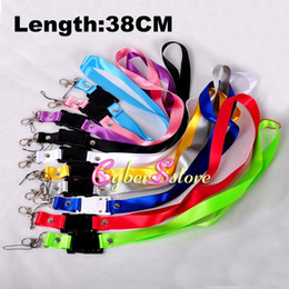 Wholesale Cellphones Chain - 38cm( Length) X 2CM (width) Wide Neck Strap lanyard key chains Rope With Metal Hook for Camera CellPhone MP3 MP4 ID Card Strap