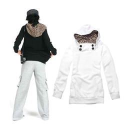 Wholesale Leopard Hoodie Man - S5Q New Korean Women's Leopard Autumn Hoodies Long Sleeve Sweatshirts AAACQC