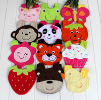 free shipping 10pcs lot baby girls boys cotton bibs animal d...