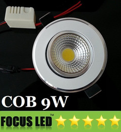 Wholesale Dimmable Recessed 9w Pure White - Brand New COB 9W Led Recessed Downlight 110-240V Dimmable Warm Pure Cool White Led Ceiling Lights 120 Angle 550 Lumens CRI>85 + CE CSA SAA